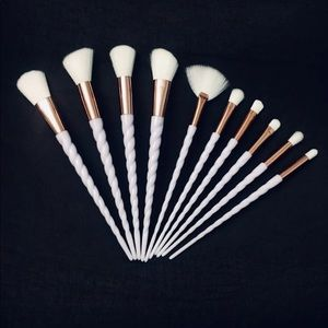 10 Pieces Unicorn Makeup Brushes Set